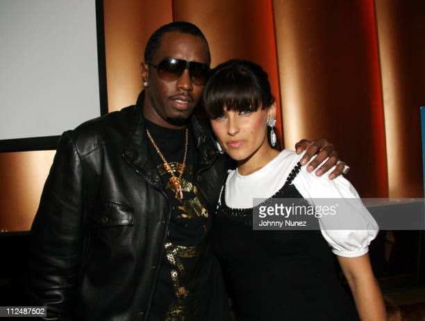 Sean P Diddy Combs and Nelly Furtado during Sean Diddy Combs Press Play CD Listening Party and Andre Harrell Birthday Party September 25 2006 at...