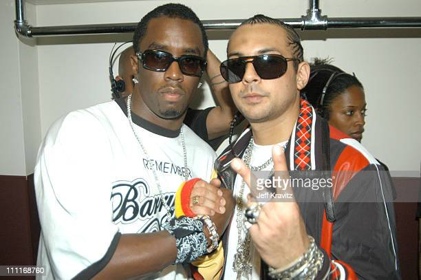 Sean P Diddy Combs and Sean Paul during 2003 MTV Video Music Awards Backstage and Audience at Radio City Music Hall in New York City New York United...