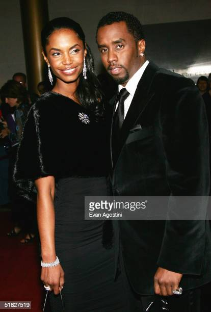 Sean 'P Diddy' Combs and wife Kim Porter arrive at the 27th Annual Kennedy Center Honors Gala at The Kennedy Center for the Performing Arts December...