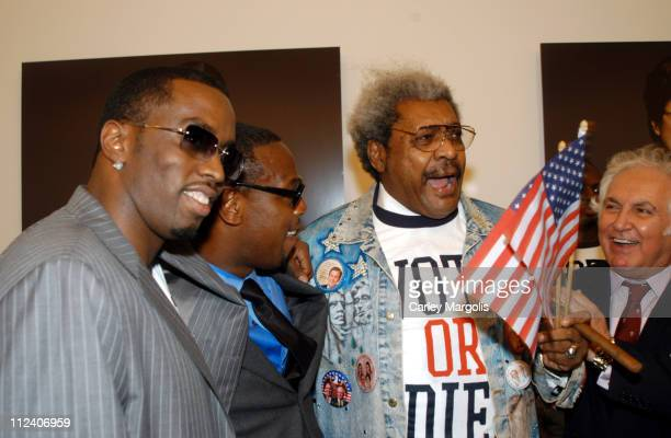 Sean P Diddy Combs Andre Harrell Don King and Tony Shafrazi