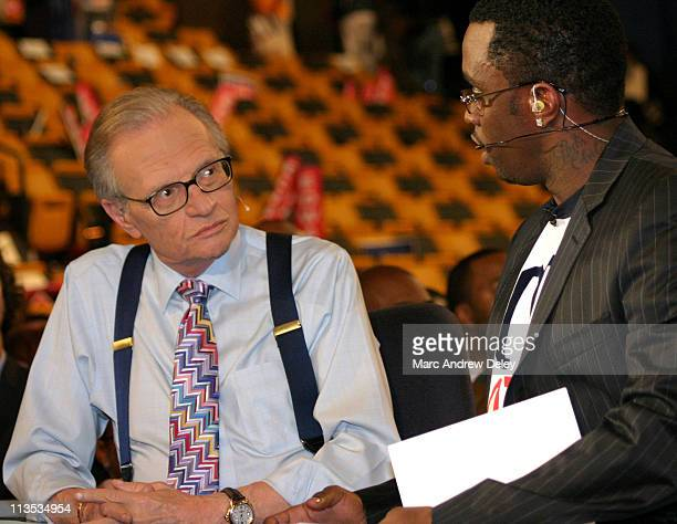 """Sean """"P. Diddy"""" Combs appears on """"Larry King Live"""" after the third day of the 2004 Democratic National Convention promoting his """"Vote or Die""""..."""
