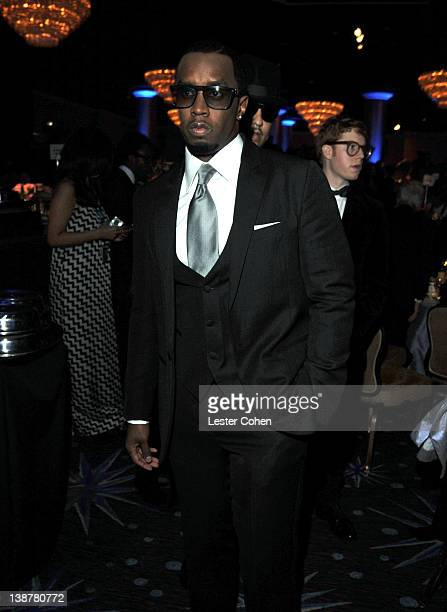 Sean 'P Diddy' Combs attends Clive Davis and The Recording Academy's 2012 PreGRAMMY Gala and Salute to Industry Icons Honoring Richard Branson at The...