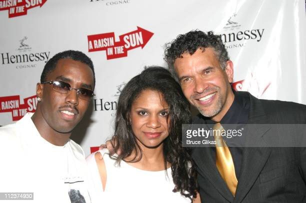 Sean P Diddy Combs Audra McDonald and Brian Stokes Mitchell
