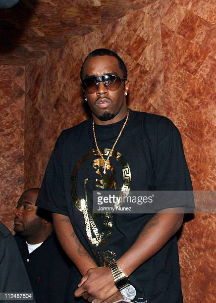 Sean P Diddy Combs during Sean Diddy Combs Press Play CD Listening Party and Andre Harrell Birthday Party September 25 2006 at Tenjune in New York...