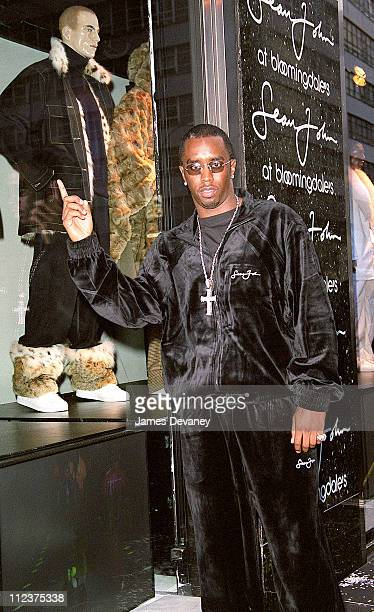Sean 'P Diddy' Combs during Sean 'P Diddy Combs' at Unveiling of Bloomingdale's Fall 2000 Windows Featuring Sean John at Bloomingdale's in New York...