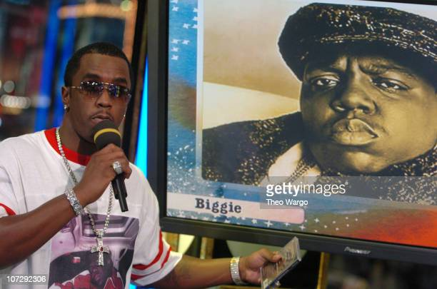 Sean 'P Diddy' Combs during Sean 'P Diddy' Combs Celebrates Bad Boy Records 10th Anniversary at MTV's 'TRL' March 9 2004 at MTV Studios Times Square...