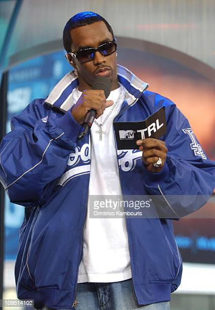 Sean 'P Diddy' Combs during Sean 'P Diddy' Combs Hosts MTV's 'TRL' October 18 2002 at MTV Studios Times Square in New York City New York United States