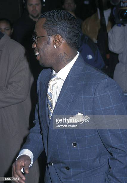 Sean P Diddy Combs during Topdog/Underdog Broadway Opening Night at Ambassador Theater in New York City New York United States
