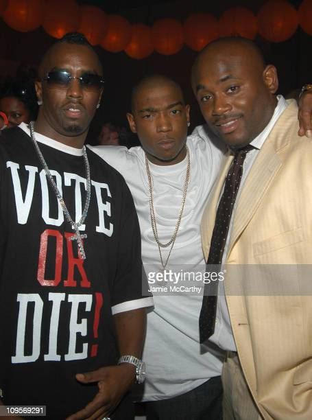 Sean 'P Diddy' Combs Ja Rule and Steve Stout during Post VMA Party Hosted by Sean 'P Diddy' Combs and Guy Oseary Inside at Ice House in Miami Florida...