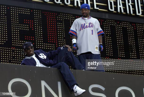 Sean P Diddy Combs Jermaine Dupri on Madison Square Garden marquee