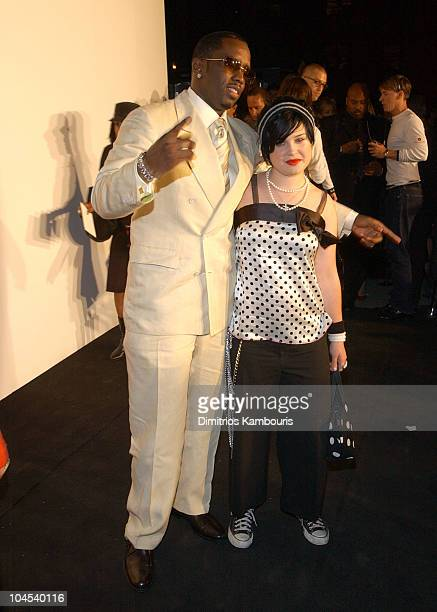Sean 'P Diddy' Combs Kelly Osbourne during MercedesBenz Fashion Week Spring Collections 2003 Marc Jacobs Show Arrivals at Maritime Hotel in New York...