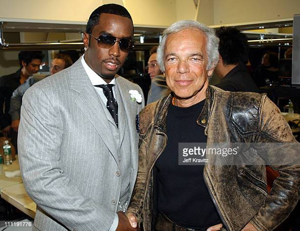 Sean 'P Diddy' Combs Ralph Lauren during 2002 VH1 Vogue Fashion Awards Audience Backstage at Radio Cit y Music Hall in New York City New York United...