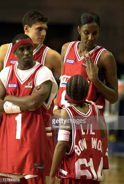Sean 'P Diddy' Combs Wally Szczerbiak Lisa Leslie and Lil' Bow Wow