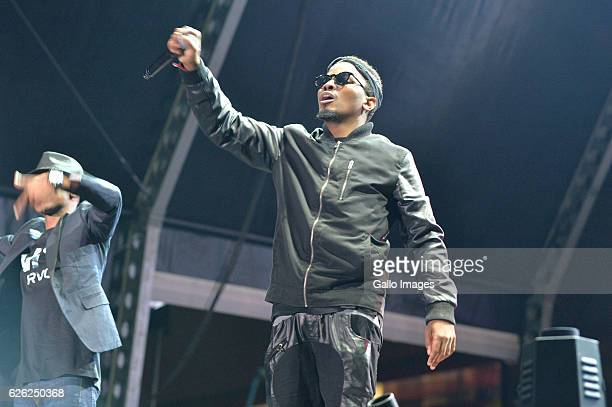 Sean Pages and TwoDee perform during the 7th annual Maftown Heights 2016 concert at the Mary Fritzgerald Square on November 25 2016 in Johannesburg...