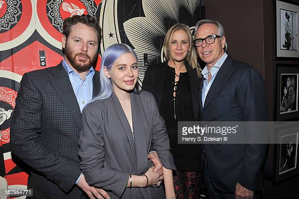 Sean Parker Alexandra Lenas Dee Hilfiger and Tommy Hilfiger attend The Cinema Society Tommy Hilfiger screening of The Inevitable Defeat of Mister...