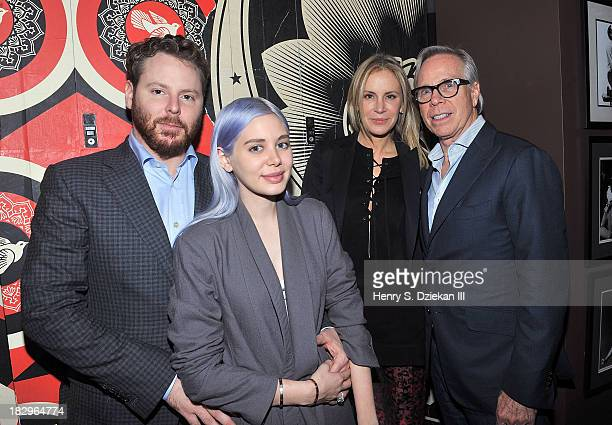 Sean Parker Alexandra Lenas Dee Hilfiger and Tommy Hilfiger attend The Cinema Society Tommy Hilfiger screening of 'The Inevitable Defeat of Mister...