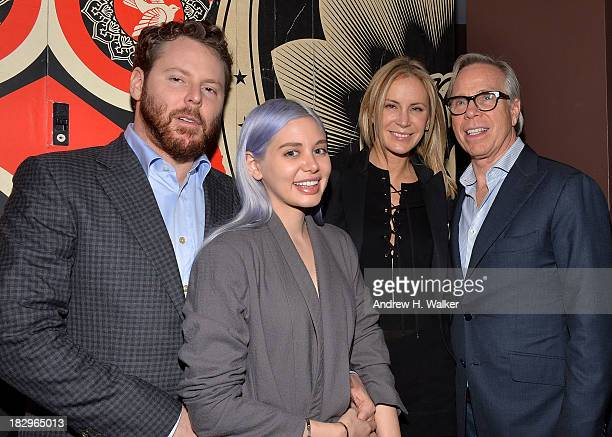 Sean Parker Alexandra Lenas Dee Ocleppo and Tommy Hilfiger attend The Cinema Society Tommy Hilfiger screening of The Inevitable Defeat of Mister Pete...
