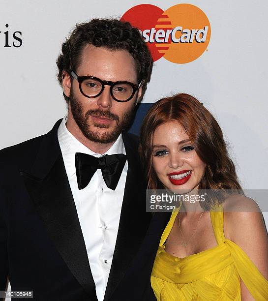 Sean Parker and Alexandra Lenas arrive at Clive Davis and The Recording Academy's 2012 Salute To Industry Icons Gala at The Beverly Hilton hotel on...