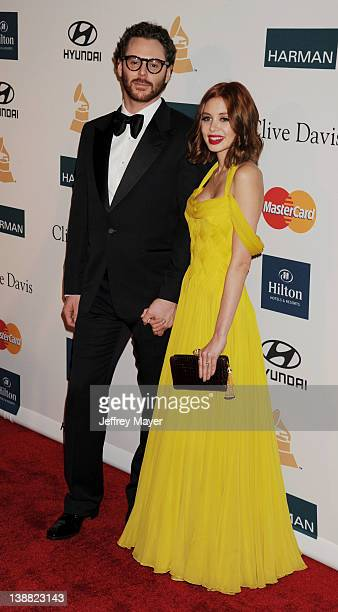 Sean Parker and Alexandra Lenas arrive at the Clive Davis and The Recording Academy's 2012 PreGRAMMY Gala and Salute to Industry Icons Honoring...