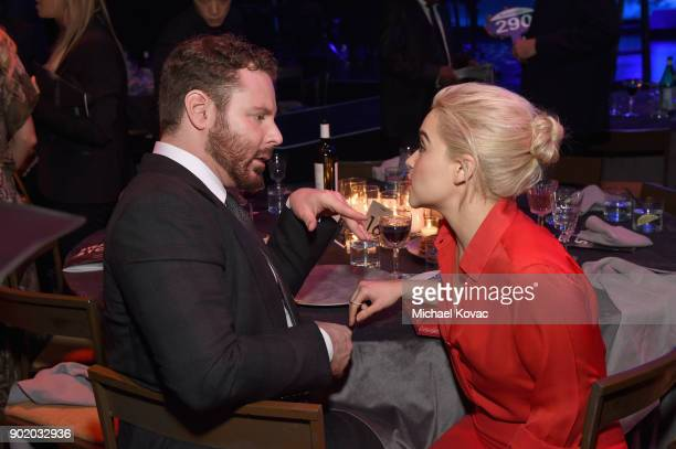 Sean Parker and Emilia Clarke attend the 7th Annual Sean Penn Friends HAITI RISING Gala benefiting J/P Haitian Relief Organization on January 6 2018...