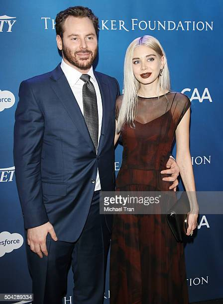 Sean Parker and guest arrive at the 5th Annual Sean Penn Friends 'HELP HAITI HOME' gala benefiting J/P Haitian Relief Organization held at Montage...