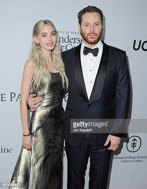 Sean Parker and wife Alexandra Lenas arrive at Sean Parker And The Parker Foundation Launch The Parker Institute For Cancer Immunotherapy Gala on...