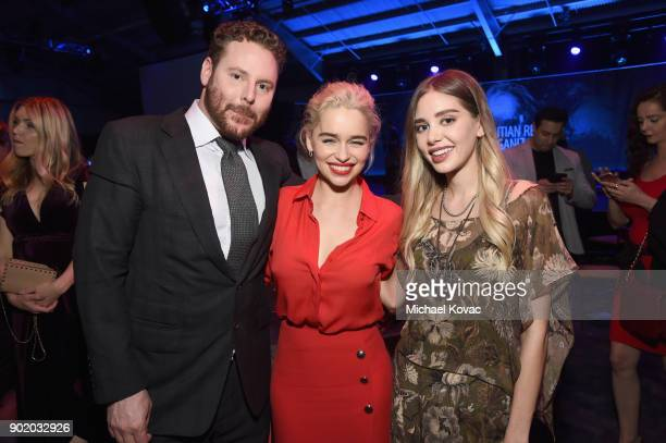 Sean Parker Emilia Clarke and Alexandra Parker attend the 7th Annual Sean Penn Friends HAITI RISING Gala benefiting J/P Haitian Relief Organization...
