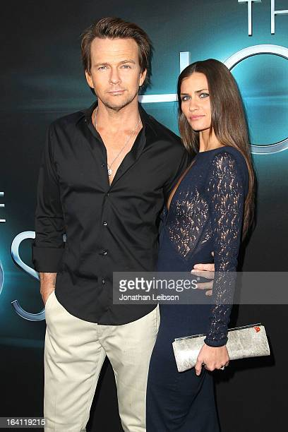 Sean Patrick Flanery and Lauren Hill attend the The Host Los Angeles Premiere at ArcLight Cinemas Cinerama Dome on March 19 2013 in Hollywood...