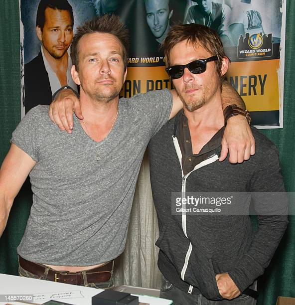 Sean Patrick Flanery and Norman Reedus attend Wizard World Philadelphia Comic Con 2012 at Pennsylvania Convention Center on June 1 2012 in...