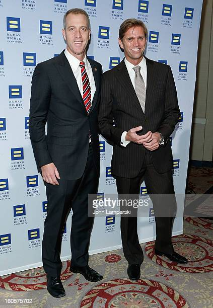 Sean Patrick Maloney and Randy Florke attend The 2013 Greater New York Human Rights Campaign Gala at The Waldorf=Astoria on February 2 2013 in New...