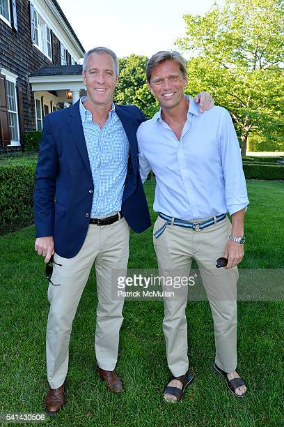 Sean Patrick Maloney and Randy Florke attend The Sixteenth Annual Midsummer Night Drinks Benefiting God's Love We Deliver at Private Residence on...