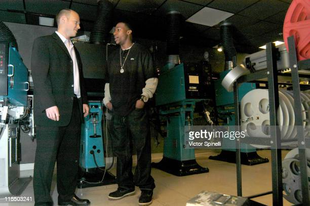 Sean Patrick Murphy and Arlen Escarpeta during 'Show Tell' Los Angeles Screening at Ince Theater in Culver City California United States
