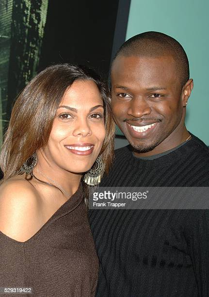 Sean Patrick Thomas and date arrive at the premiere of The Amityville Horror at the Arclight Cinerama Dome