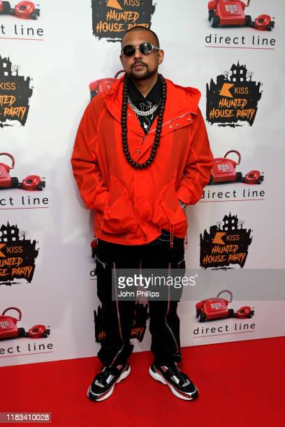 Sean Paul attends the KISS Haunted House Party 2019 at The SSE Arena, Wembley on October 25, 2019 in London, England.
