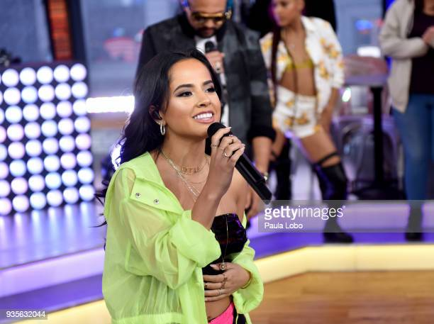 AMERICA Sean Paul Becky G and David Guetta perform live on 'Good Morning America' Wednesday March 21 airing on the ABC Television Network BECKY G