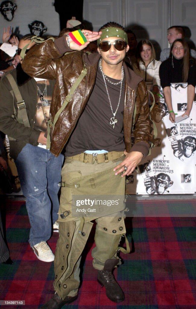 Sean Paul during MTV Europe Music Awards 2003 - Arrivals at Ocean Terminal Arena in Edinburgh, Scotland.