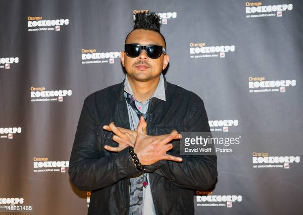 Sean Paul is posing at Le Zenith on July 12 2012 in Paris France