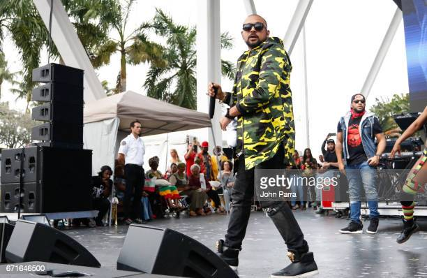 Sean Paul performs at Kaya Fest at Bayfront Park Amphitheater on April 22 2017 in Miami Florida