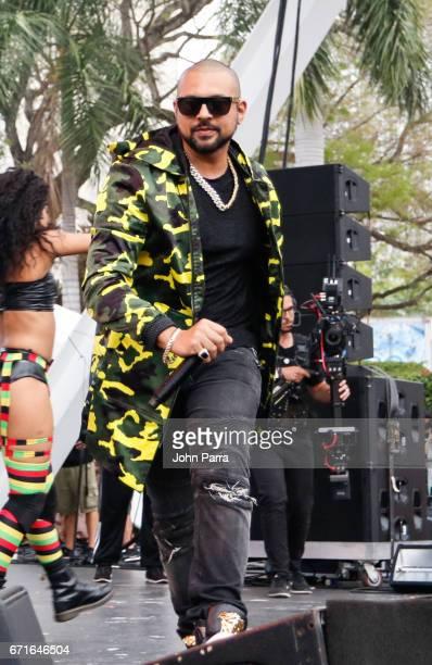 Sean Paul performs at Kaya Fest at Bayfront Park Amphitheater on April 22 2017 in Miami Florida