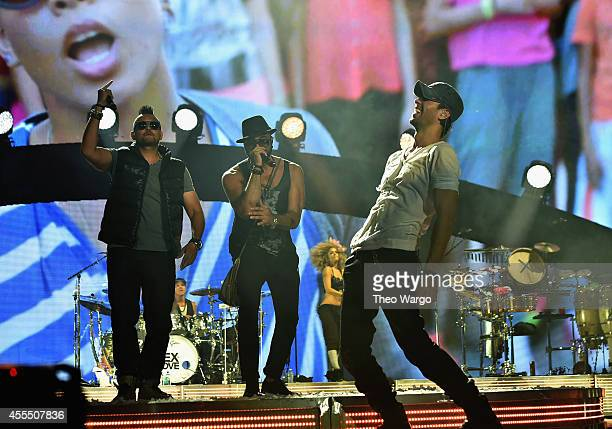 Sean Paul performs with Enrique Iglesias and Pitbull with special guest J Balvin at opening night of US tour at Prudential Center on September 12...