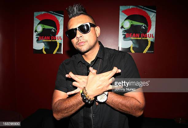 Sean Paul poses backstage at SOB's on October 2 2012 in New York City