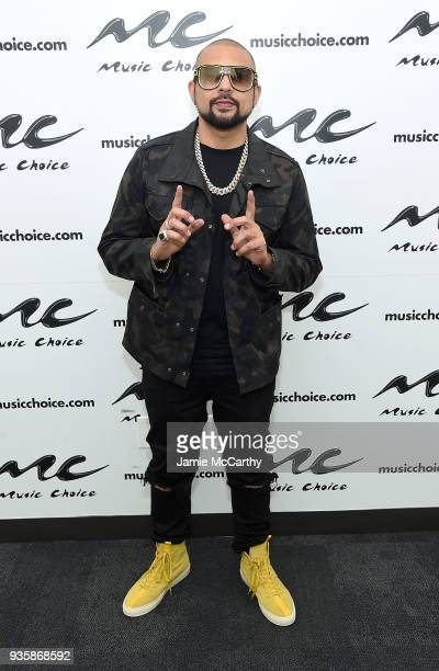 Sean Paul visits Music Choice at Music Choice on March 21 2018 in New York City