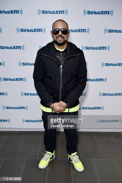 Sean Paul visits SiriusXM Studios on March 19 2019 in New York City