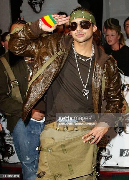 Sean Paul wearing Dolce Gabbana sunglasses during MTV Europe Music Awards 2003 Arrivals at Ocean Terminal Arena in Edinburgh United Kingdom