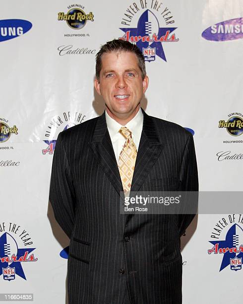 Sean Payton, Head Coach of the New Orleans Saints and Coach of the Year award recipient at the NFL Alumni Player of the Year Awards at the Hard Rock...