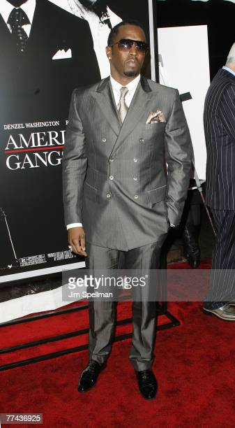 Sean PDiddy Combs arrives at American Gangster premiere at the Apollo Theater on October 19 2007 in New York City New York