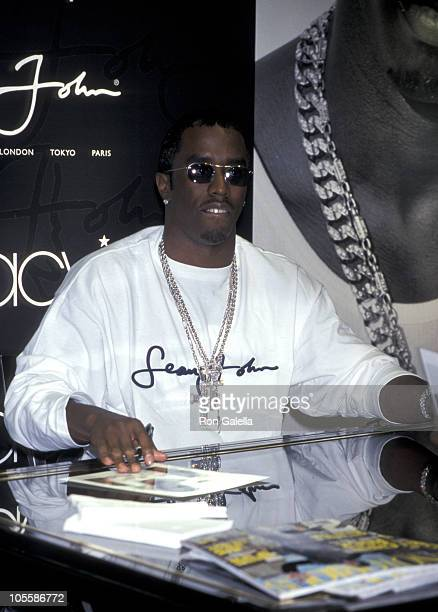 Sean 'PDiddy' Combs during Sean 'PDiddy' Combs Celebrates The 1st Anniversary of Sean Jean at Macy's Herald Square in New York City New York United...