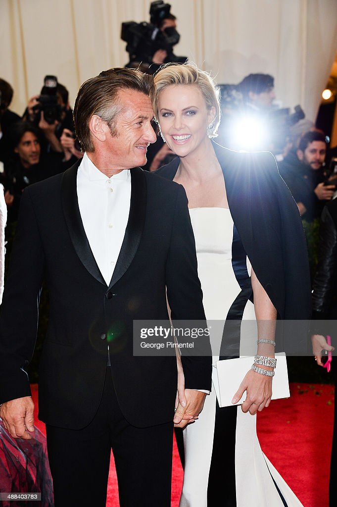 Sean Penn and Charlize Theron attend the 'Charles James: Beyond Fashion' Costume Institute Gala at the Metropolitan Museum of Art on May 5, 2014 in New York City.