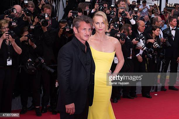 "Sean Penn and Charlize Theron attend the ""Mad Max : Fury Road"" Premiere during the 68th annual Cannes Film Festival on May 14, 2015 in Cannes, France."
