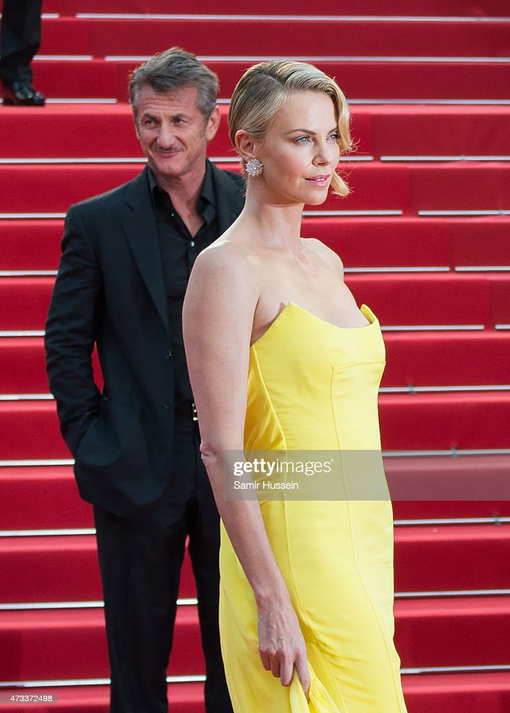 Sean Penn and Charlize Theron attend the 'Mad Max : Fury Road' Premiere during the 68th annual Cannes Film Festival on May 14, 2015 in Cannes, France.